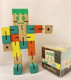puzzle boy grön